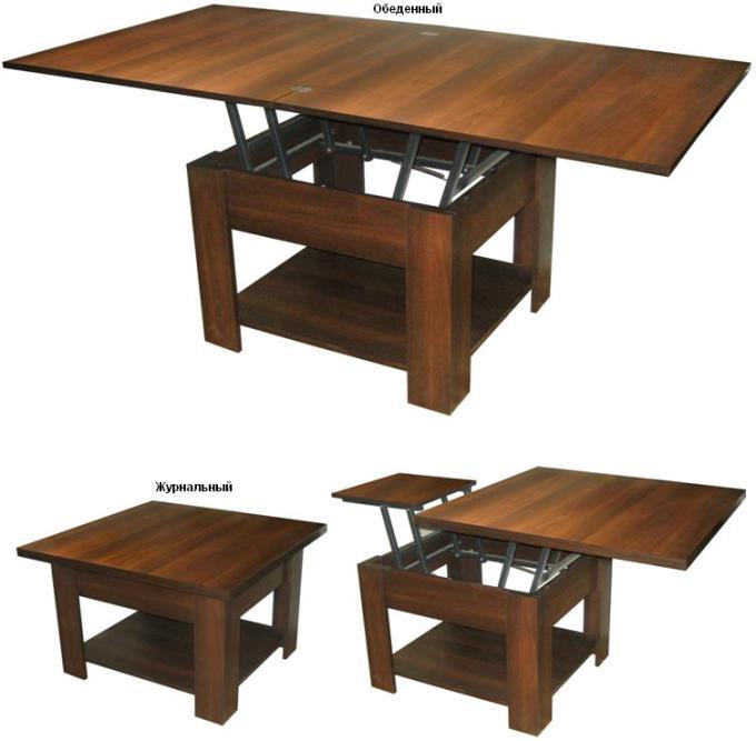 Стол-трансформер, журнальный стол трансформер, мебель столы
