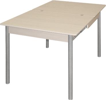 Обеденный стол со стеклом М142.85, раздвижной стол со стеклом