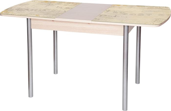 Стол раздвижной М142.94 со стеклянной столешницей и фотопечатью