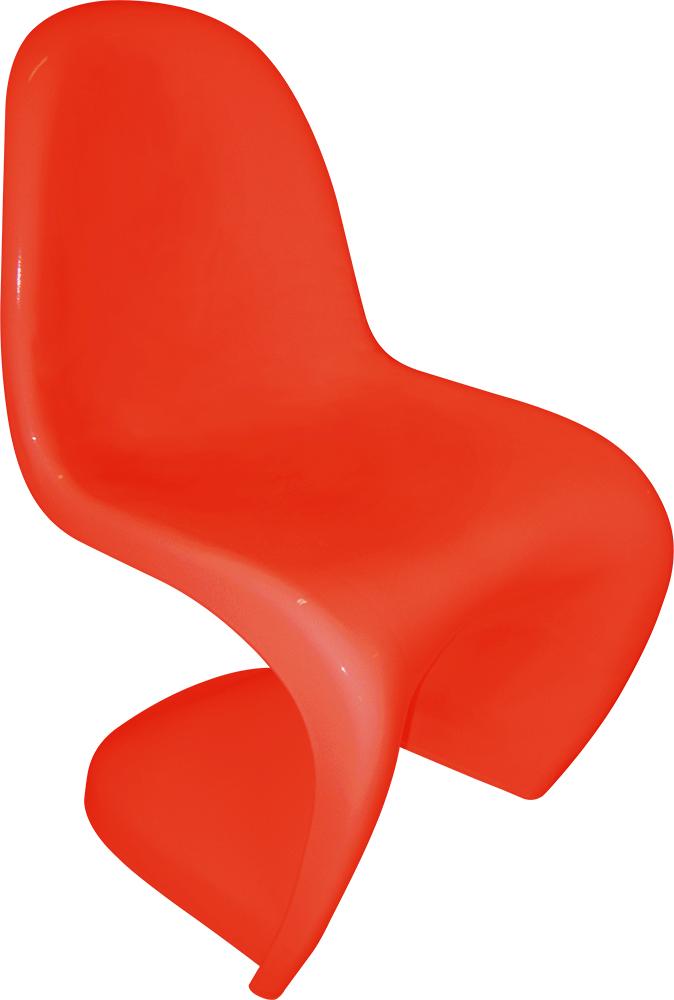 Оранжевый стул из пластика