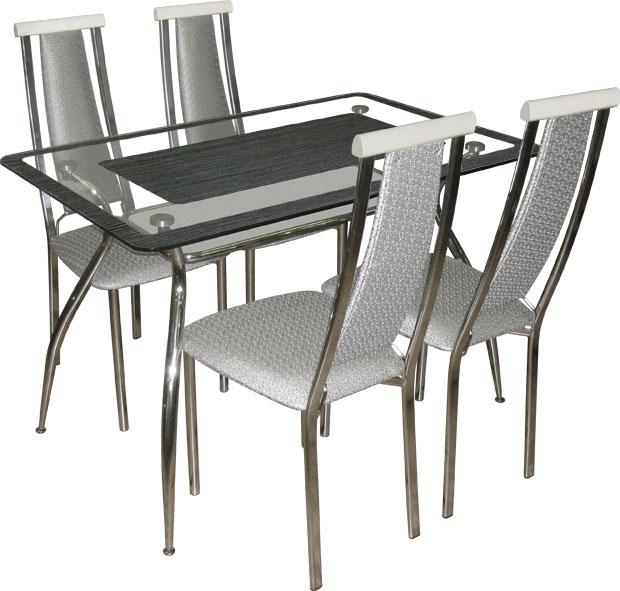 Обеденные группы, купить обеденную группу, стеклянный стол для кухни