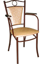 Классический стул с подлокотниками спб, классический стул с мягкой спинкой