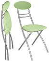 Складные стулья с мягкой спинкой, мягкие складные стулья, кухонные складные стулья, складные стулья СПб, стул складной со спинкой М8-01