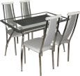 """Кухонный стол и стулья, стеклянные столы, обеденные группы для кухни, обеденная группа """"Премиум-18"""""""