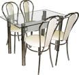 """Кухонный стол и стулья, стеклянные столы, обеденные группы для кухни, обеденная группа """"Премиум-19"""""""