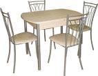 """Купить обеденную группу, обеденные группы """"Стандарт-6"""", стол раздвижной, стол обеденный раздвижной"""