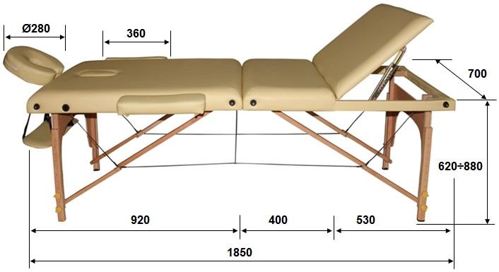 Массажный стол своими руками из металла чертежи 100