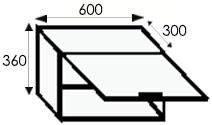 Кухни на заказ, размеры и цены каркасов угловых навесных шкафов