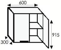 Кухни на заказ, стандартные размеры и типы каркасов навесных шкафов