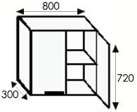 Кухни на заказ, расчет размеров кухни, размеры каркасов навесных шкафов