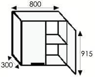 Кухни от производителя, стандартные размеры каркасов навесных шкафов