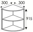 Кухни, размеры и цены каркасов угловых навесных шкафов