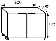 Кухни на заказ, размеры и цены каркасов тумбы