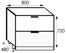 Кухни от производителя, размеры и цены каркасов тумбы с ящиками