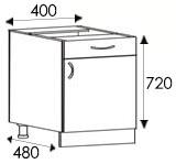 Кухни, размеры и цены каркасов тумбы с ящиками