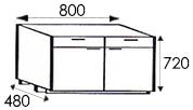 Кухни от производителя, размеры каркасов тумбы с ящиками