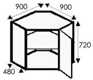 Кухни на заказ, размеры каркасов угловой тумбы